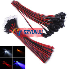Lots 1000pcs 5mm Red led Pre Wired light 12V 18cm Bulbs Light Lamp Water clear