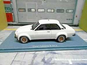 OPEL-Ascona-B-2000-Gr-2-Rallye-Plainbody-weiss-white-ready-to-race-RAR-NEO-1-43