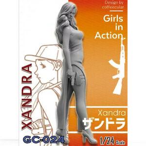 1-24-Xandra-chicas-en-accion-Resina-Model-Kits-Sin-Pintar-GK-sin-montar