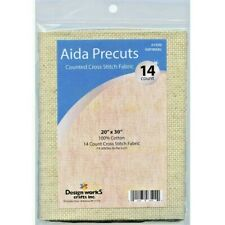 Design Works Gold Quality Aida 14 Count 20X30-Sparkle