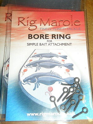 Rig Marole Bore Rings *Complete Range* NEW Carp Fishing Bait Screws