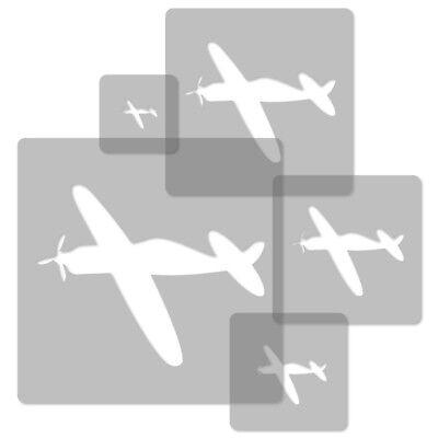 Nursery Template // Plane #1 Sales Of Quality Assurance 34x34cm To 9x9cm Reasonable 5x Reusable Plastic Stencils