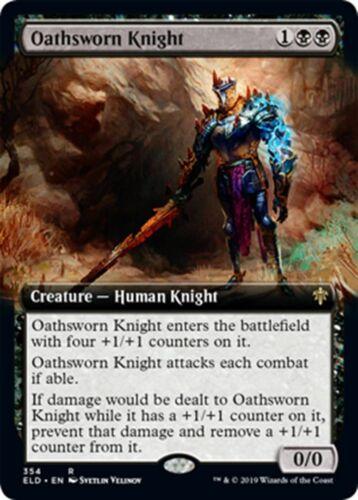 MTG Magic - R Oathsworn Knight Extended Art Throne of Eldraine NM//M