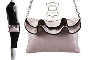 Borse-Pelle-Rosa-Leather-Handbag-Pink-Handtasche-Leder-Sac-a-Main-Cuir-Rose-Noir