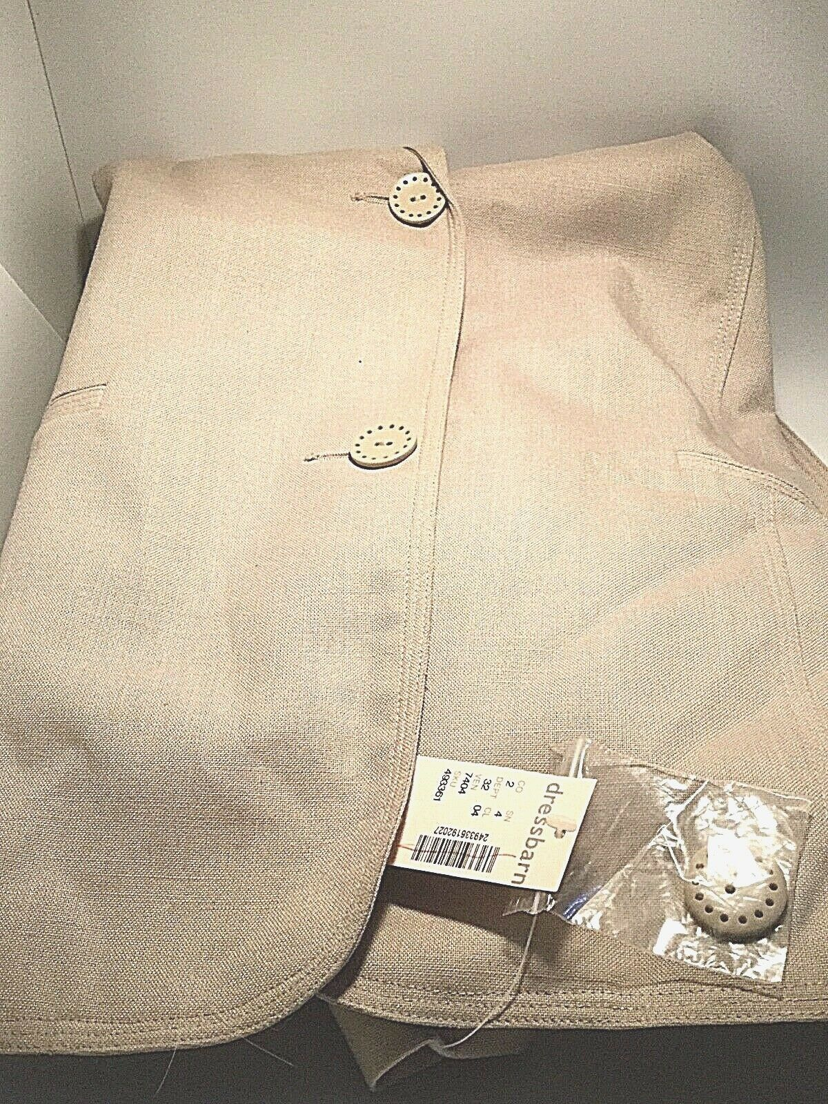 Dress Barn Women s s s size 24 lined  Blazer Beige colord New with Tags b2bf3d