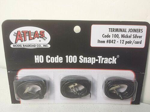 Par Atlas Model Railroad CO #842 Code 100 Track terminal ferroviário Tupias-Um 1