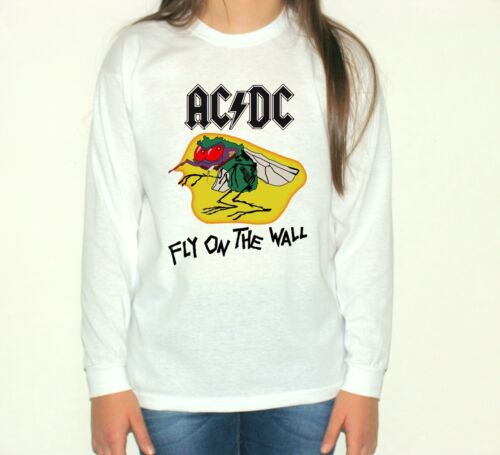 acdc Fly on the Wall t-shirt long sleeve acdc children blouse shirt size:3-11y