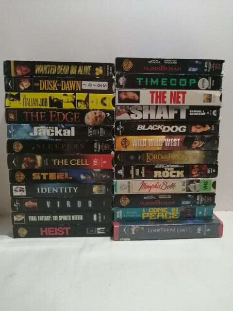 Lot Of 24 Action Movie VHS Tapes. The Glimmer Man, Time cop, The Rock and more.