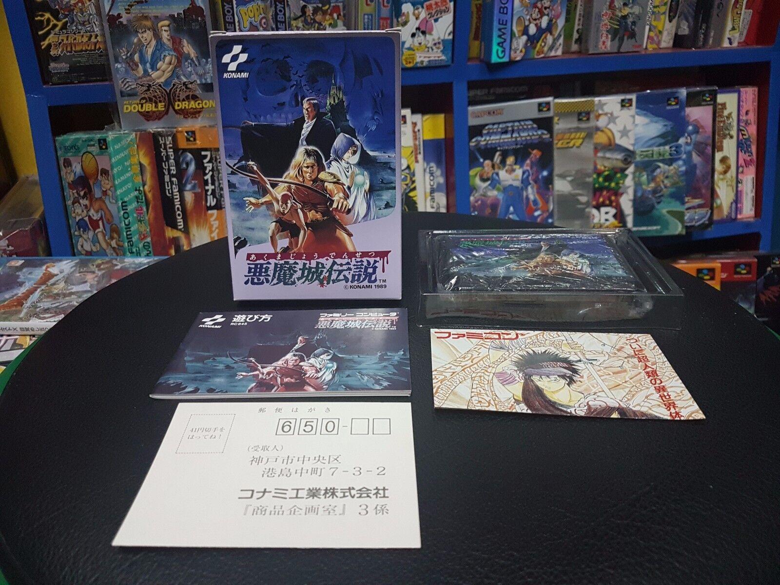 Guía AKUMAJO Densetsu castlevanic FAMICOM FC NES Japón Konami Completa