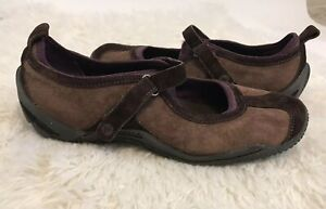 Merrell-Women-039-s-Circuit-MJ-Brown-OrthoLite-Mary-Jane-Suede-Shoes-Size-9