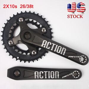 FMFXTR-26-38t-2X10s-Double-Speed-104-64bcd-MTB-Bike-Crankset-Crank-Chainring