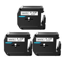 Black On White 9mm Tape For Brother P Touch Pt 80 Mk221 M K221 Label Maker 3pk