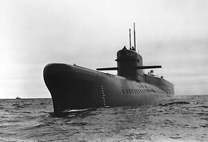 Framed-Print-Soviet-India-Class-Submarine-Picture-Poster-Military-Art-Navy