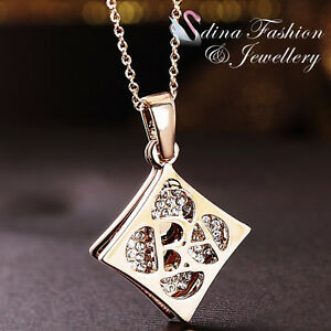 18K-Rose-Gold-Plated-Simulated-Diamond-Creative-Double-Rhombus-Shaped-Necklace