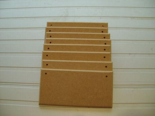 """6 plaques X 6/"""" x 3/"""" en bois plaques Courbé Bord Blancs signes de qualité supérieure"""