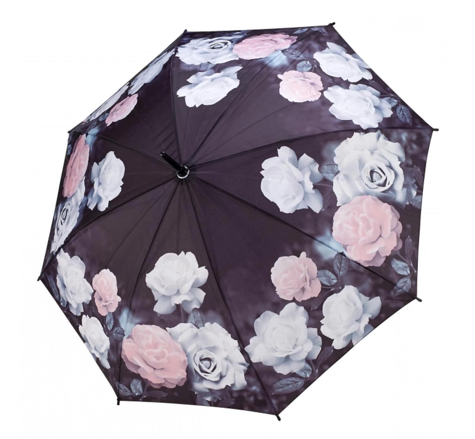 Clifton Galleria Vintage Roses Auto Open Walking Umbrella