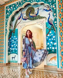 H-amp-M-SS2019-TREND-V-NECK-WRAP-PATTERNED-LONG-DRESS-BLOGGERS-SOLD-OUT-HOLIDAYS