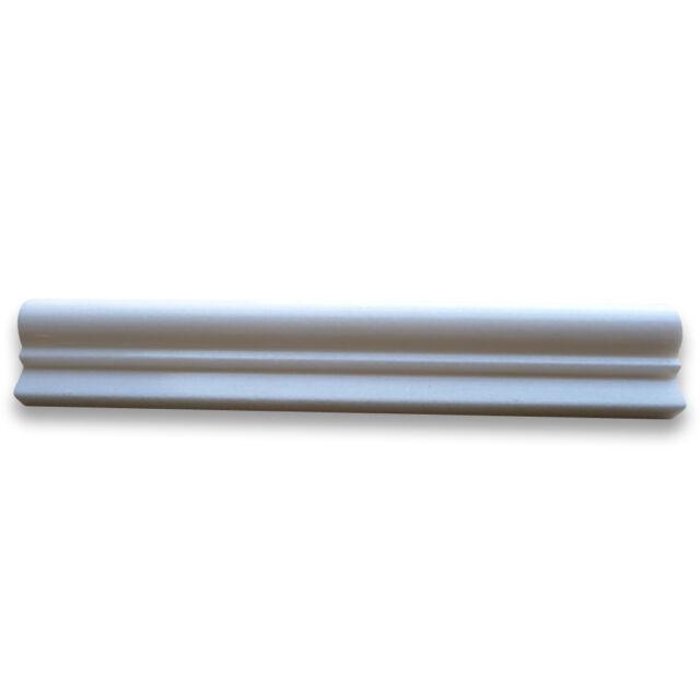 Thassos White 2-1/2x12 Chair Rail Trim Molding Honed ... |Thassos Marble 2x12
