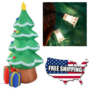 Details About 4 Ft Inflatable Christmas Tree Led Air Blown Yard Xmas Party Outdoor Decoration