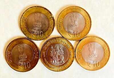 lot of 5 coins from different countries for collectors