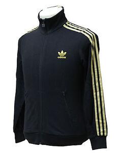Details about Adidas Firebird J TT Junior Kinder Jacke Jacket Schwarz -  Gold Freizeit Sport