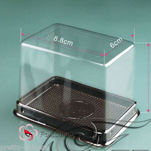 10pcs-Individual-Clear-Plastic-Cake-Muffin-Baking-Box-Case-Tray-8-8cmx6cmx7-5cm