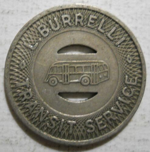 L transit token  PA325B East Pittsburgh Pennsylvania Burrelli Transit Service