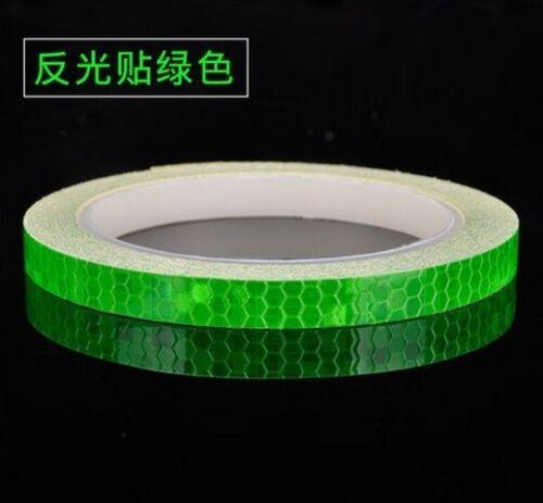 "800cm 315/"" Fluorescent Bike Motorcycle Reflective Safety Tape Waterproof Sticker"