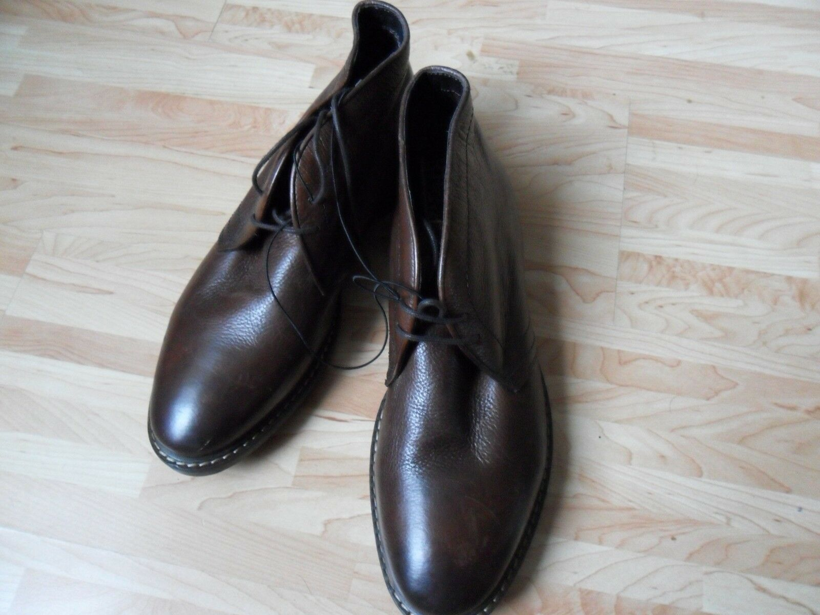 Marks & Spencer hi top leather brown lace up shoes size 8 brand new