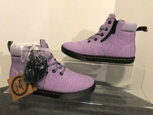 Textile Dr Maegley Martens Woven Boots 4 Uk Purple Heather Bnib Wair Air Ankle RxqWd8