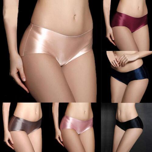 Seamless Ladies Lingerie Underwear Silk Satin Low rise Panties/_Underpants