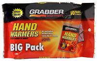 10-pack Grabber Hand Warmers - 7+ Hour Lasting Air Activated Handwarmers