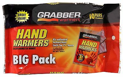 Hours Of Warming New Grabber Hand Warmers 5 Pairs 10 Total...7