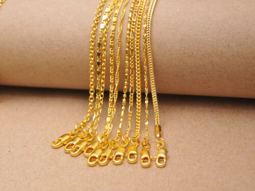 10PCS Styles Mix 18K GOLD FILL Necklace Chains Lobster Clasps Pendants Wholesale