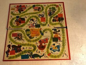 Vintage 1961 The Uncle Wiggly Game Board Howard R Garis Ebay
