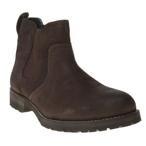 Red Boots Mens Chelsea Tape New Clifton Suede Brown Znq6Sz5AwW