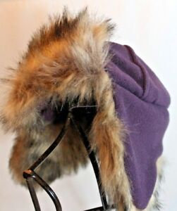 Details about BABY GAP S M PURPLE Plum FLEECE Faux FUR Trapper HAT Free  Shipping 527babb3d45