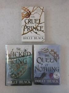 Holly Black FOLK OF THE AIR TRILOGY 2 Hardcovers (1 Signed) & Trade Softcover