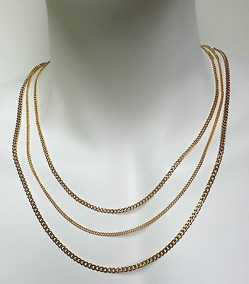 18K Gold Plated Stainless Steel Men Women Cuban Link Curb  Chain Necklace 2mm,