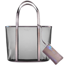 Jimmy Choo Parfums Clear Tinted Tote Bag Shopper Handbag & Coin Pouch Purse NEW