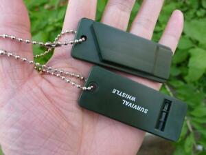 2-Super-Loud-Survival-Emergency-Whistles-Camping-Hiking-Outdoor-Travelling-Kits