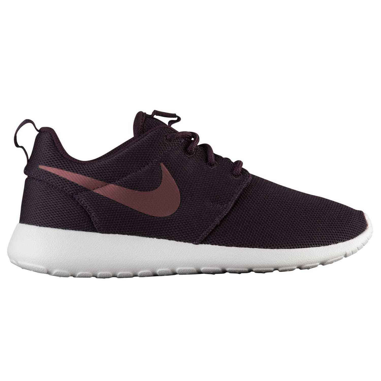 Nike roshe un porto / metallico in donne scarpe 844994-602 mogano.