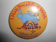 "Vintage 80s 90s Disney Walt Disney MGM Studios I had Breakfast With Aladdin 3"""