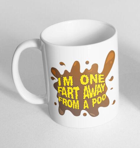 I/'m One Fart Away Poo Printed Cup Ceramic Novelty Mug Funny Gift Coffee Tea 90