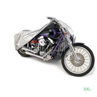 Silver Motorcycle Cover For Harley Davidson Softail Custom Fxstc Fatboy Flstf