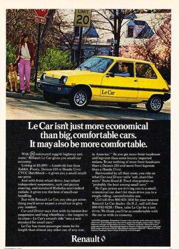 Classic Vintage Advertisement Ad D44 Limit 1979 Renault Le Car