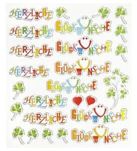 Design Hobby Sticker *Herzliche Glückwünsche* 3452374 NEU