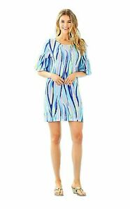 New-Lilly-Pulitzer-Lindell-T-Shirt-Tunic-Viscose-Dress-Multi-Shore-Perfection