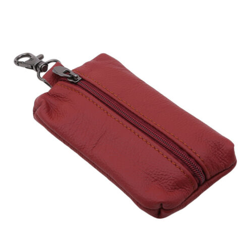 New Genuine Leather Key Holder Case Keychain Pouch Bag Wallet Key Ring Purse Hot