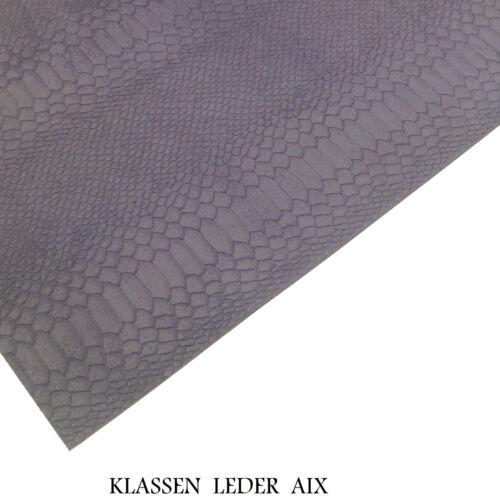 Rindleder Reptil Design 2,6 mm Dick A3 Büffelleder Echt Leder Haut Leather 158